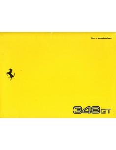 1993 FERRARI 348 GT INSTRUCTIEBOEKJE 801/93