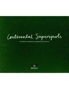 2010 BENTLEY CONTINENTAL SUPERSPORTS KLANTEN BOX / BROCHURE ENGELS