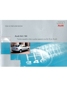 2000 AUDI A4 S4 AVANT INSTRUCTIEBOEKJE ITALIAANS
