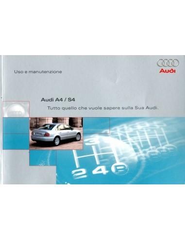 2000 audi a4 s4 avant owners manual handbook italian rh autolit eu audi s4 owner's manual audi s4 service manual pdf