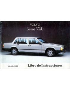 1985 VOLVO 740 INSTRUCTIEBOEKJE SPAANS