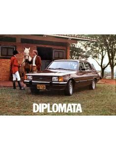 1980 CHEVROLET DIPLOMATA LEAFLET BRAZILIAANS