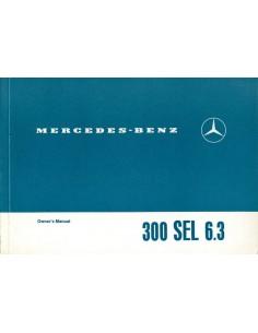 1968 MERCEDES BENZ 300 SEL 6.3 INSTRUCTIEBOEKJE ENGELS