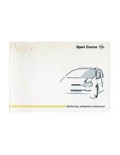 1999 OPEL CORSA INSTRUCTIEBOEKJE NEDERLANDS