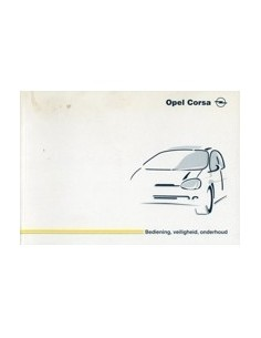 1999 OPEL CORSA INSTRUCTIEBOEKJE NEDERLANDS