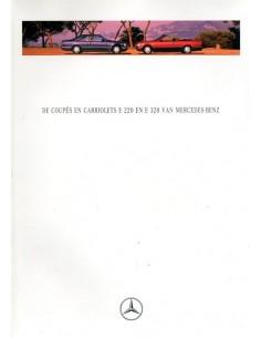 1994 MERCEDES BENZ E220 E320 COUPE & CABRIOLET BROCHURE NEDERLANDS