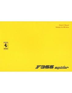 1995 FERRARI F355 SPIDER RHD INSTRUCTIEBOEKJE 1020/95