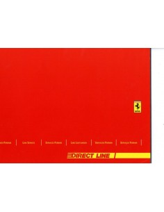 2004 FERRARI DIRECT LINE SERVICE INSTRUCTIEBOEK 2100/04