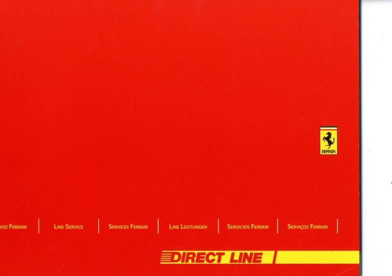 2004 FERRARI DIRECT LINE SERVICE MANUAL 2100/04