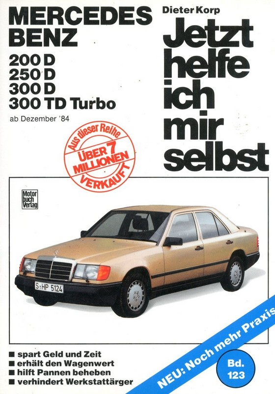 1984 1988 mercedes benz e class diesel workshop manual for Mercedes benz e class manual