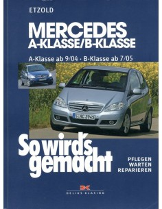 2004 - 2005 MERCEDES BENZ A & B KLASSE BENZINE DIESEL VRAAGBAAK DUITS