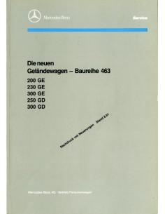 1991 MERCEDES BENZ G CLASS W463 WERKPLAATSHANDBOEK DUITS