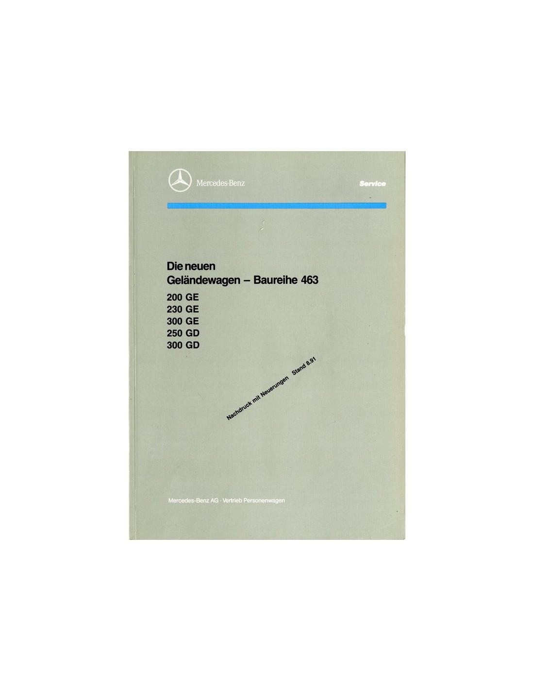 1991 mercedes benz g class w463 service manual german for Mercedes benz service g