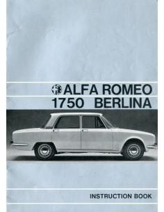 1969 ALFA ROMEO 1750 BERLINA INSTRUCTIEBOEKJE ENGELS