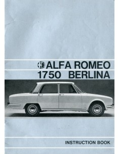 1969 ALFA ROMEO 1750 BERLINA INSTRUCTIEBOEKJE ENGELS