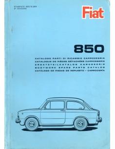 1965 FIAT 850 BERLINA ONDERDELENHANDBOEK