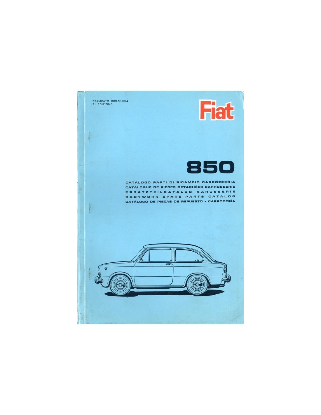 1965 Fiat 850 Spare Parts Catalog