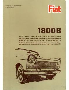 1965 FIAT 1800 ONDERDELENHANDBOEK