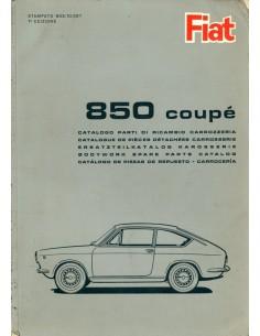 1965 FIAT 850 COUPE CARROSSERIE ONDERDELENHANDBOEK
