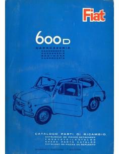 1964 FIAT 600 D CARROSSERIE ONDERDELENHANDBOEK