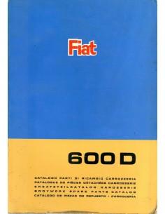 1967 FIAT 600 D CARROSSERIE ONDERDELENHANDBOEK
