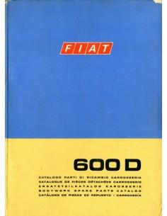 1970 FIAT 600 D CARROSSERIE ONDERDELENHANDBOEK