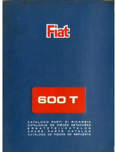 1965 FIAT 600 T CARROSSERIE ONDERDELENHANDBOEK