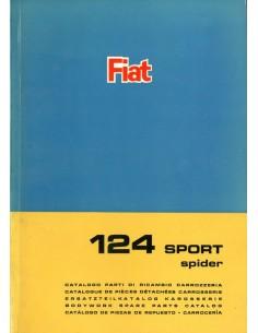 1966 FIAT 124 SPORT SPIDER CARROSSERIE ONDERDELENHANDBOEK