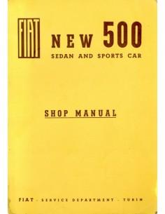 1960 FIAT 500 SEDAN & SPORT CAR WERKPLAATSHANDBOEK ENGELS