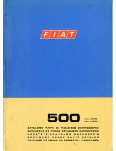 1972 FIAT 500 CARROSSERIE ONDERDELENHANDBOEK