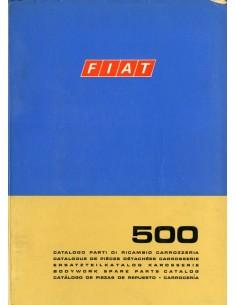 1971 FIAT 500 CARROSSERIE ONDERDELENHANDBOEK