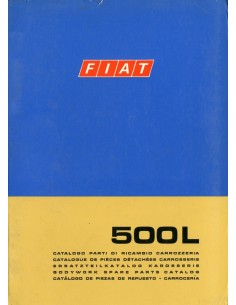 1971 FIAT 500  L CARROSSERIE ONDERDELENHANDBOEK