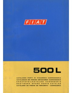 1968 FIAT 500  L CARROSSERIE ONDERDELENHANDBOEK