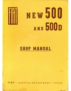 1963 FIAT 500 & 500 D WERKPLAATSHANDBOEK ENGELS