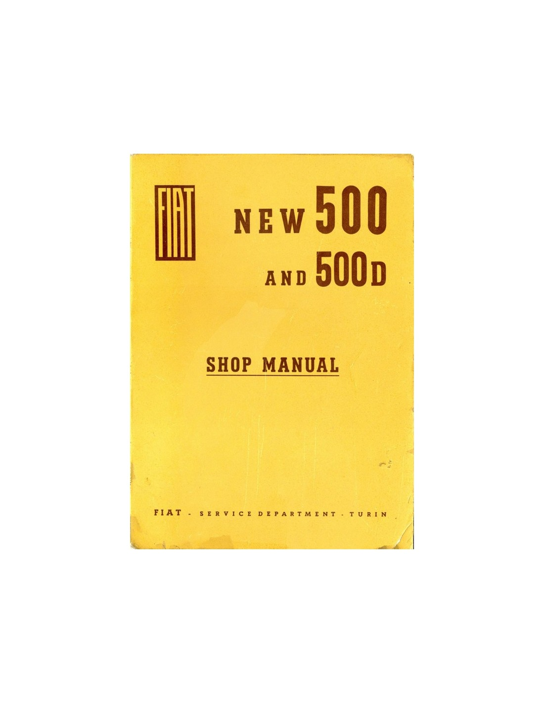 1963 FIAT 500 & 500D REPAIR MANUAL ENGLISH