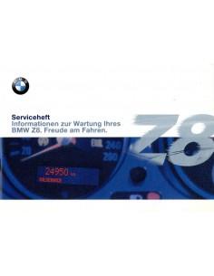 2000 BMW Z8 SERVICEBOEKJE DUITS