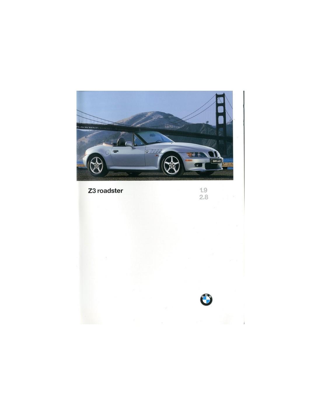 1996 Bmw Z3 Roadster Brochure Engels Usa