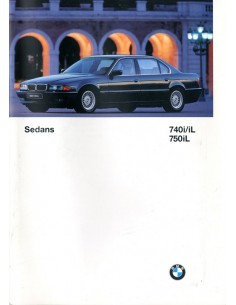 1997 BMW 7 SERIE BROCHURE ENGELS USA