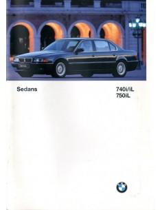 1997 BMW 7 SERIE BROCHURE ENGELS USA