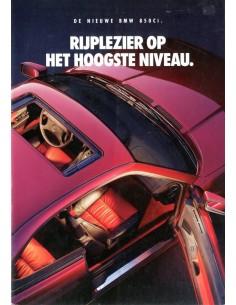 1992 BMW 8 SERIES BROCHURE NEDERLANDS