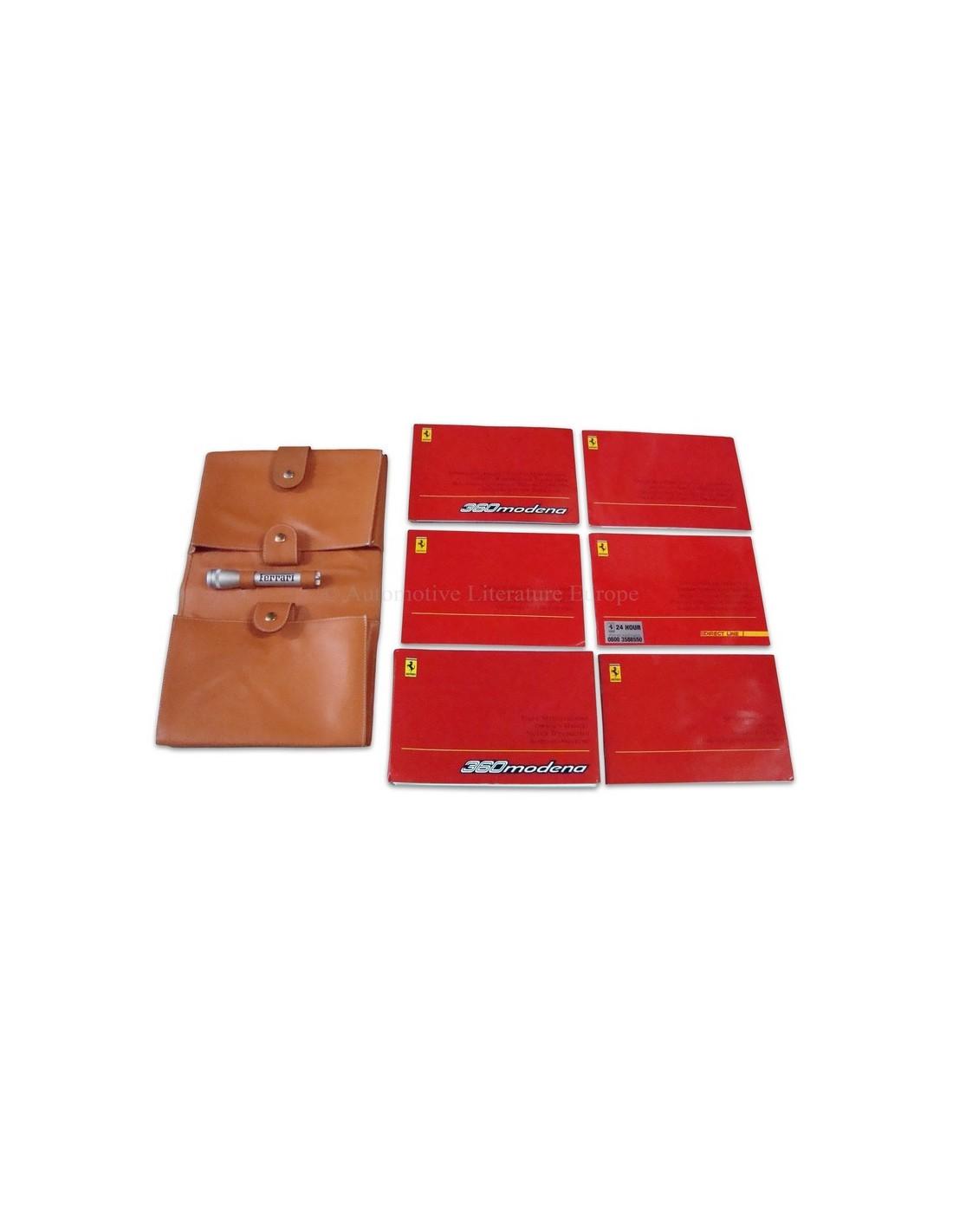 Ferrari Repair Manuals: 2000 FERRARI 360 MODENA COMPLETE POUCH OWNER'S MANUAL UK