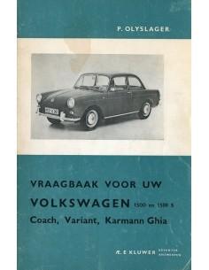 1961 -1965 VOLKSWAGEN 1500 & 1500 S VRAAGBAAK NEDERLANDS