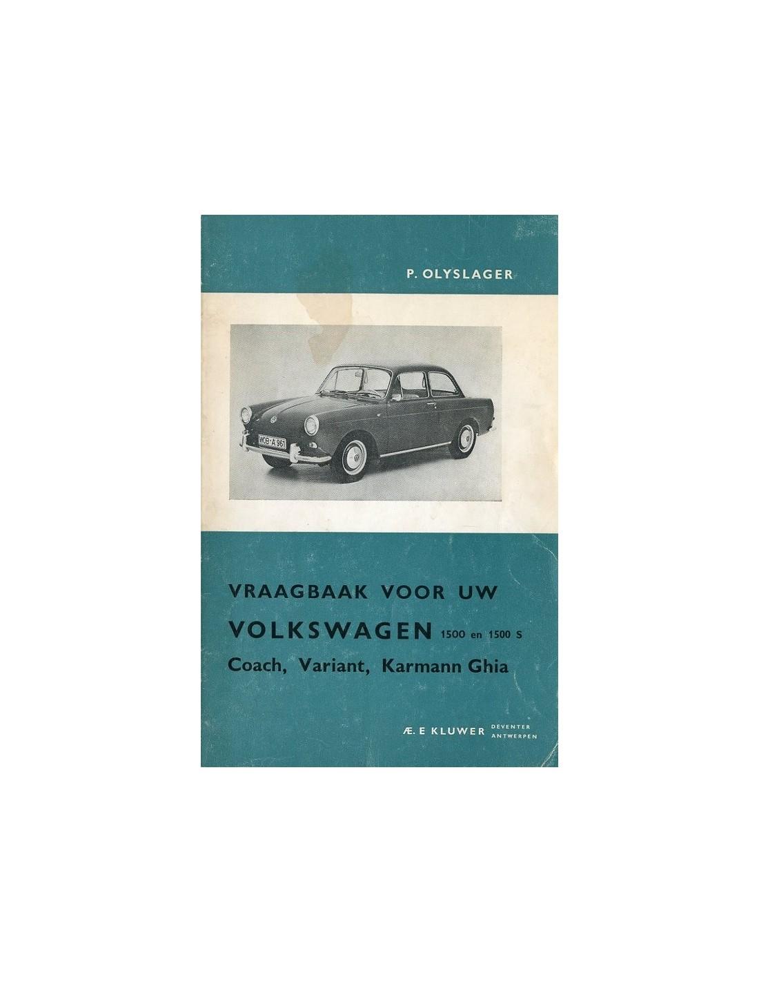 1961 1965 Volkswagen 1500 1500 S Workshop Manual Dutch