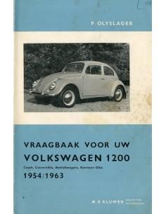 1954 -1963 VOLKSWAGEN 1200 VRAAGBAAK NEDERLANDS