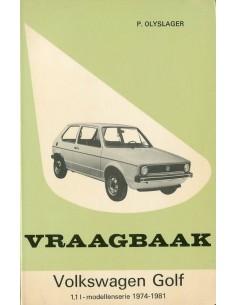 1974 - 1981 VOLKSWAGEN GOLF BENZINE VRAAGBAAK NEDERLANDS