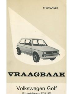 1974 - 1978 VOLKSWAGEN GOLF BENZINE VRAAGBAAK NEDERLANDS