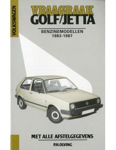 1983 - 1987 VOLKSWAGEN GOLF & JETTA BENZINE VRAAGBAAK NEDERLANDS