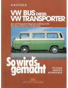1980 - 1992 VOLKSWAGEN TRANSPORTER & BUS T3 DIESEL VRAAGBAAK DUITS