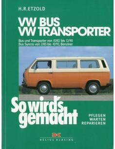 1982 - 1992 VOLKSWAGEN TRANSPORTER & BUS T3 BENZINE VRAAGBAAK DUITS