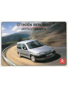 2001 CITROEN BERLINGO INSTRUCTIEBOEKJE NEDERLANDS